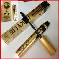 Wholesale Eye Roll - Kylie Jenner Magic thick slim waterproof mascara Black Eye Long Eyelash Charming eyes roll out the shiny eyelashes Cosmetic Gold Birthday