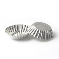 aluminium eierkuchenform großhandel-MINI Einweg Blumen Stil Aluminiumfolie Cupcake Muffin Tassen Eierkuchen Tasse Eierkuchen Form Backen Kochen Formen ZA4904