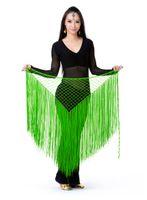 Wholesale Tribal Dance Scarves - Belly Dance Costume Tribal Tassel hip scarf wrap belt Skirt Fringes 13 colors