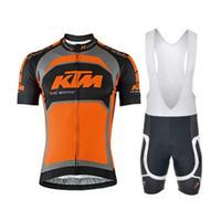 cycling jerseys sets Australia - KTM Pro Team Cycling Jersey Ropa Ciclismo Short Sleeve Bike MTB Sportwear Cycling Clothing Bib Shorts Set