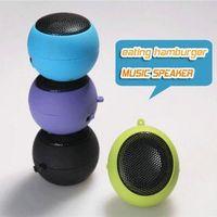 Wholesale China Mini Mp3 Player - Brand new Mini Portable Hamburger Speaker Amplifier For iPod iPad Laptop iPhone Tablet PC speaker amplifier