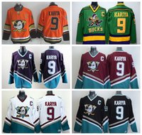 série de hockey achat en gros de-Remontée 9 Paul Kariya Maillot Sport Anaheim Ducks Série Stade 1993 Mighty Ducks Film Vert Mighty Violet Rouge Noir Blanc Orange Noir