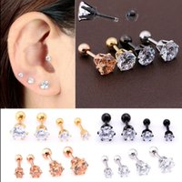 Wholesale Ear Nose Plugs - 2017 high-quality hot new stainless steel six claw earrings, ear bone nails, nose nail jewelry wholesale free shipping