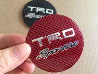 Wholesale Trd Wheel Stickers - 56MM TRD Sport Aluminium Wheel Hub Center Cap Sticker for Toyota Corolla c-hr RAV4 Camry Yaris Styling Car Accessory