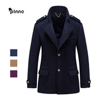 Wholesale Fall Brand Fashion Men s Wool Coat Dust Coat Business Office Formal Party Coat High Quality Wool Fabric Autumn Winter Keep Warm