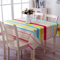 square table cloth vinyl - 2016 New Hot Sale Wipe Clean PVC Vinyl Table cloth Dining Kitchen Table Cover Protector x180cm