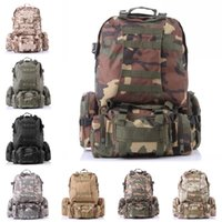 Wholesale Military Tactical Backpack For Outdoor - Free DHL Outdoor Molle 3D Military Tactical Backpack Rucksack Bag For Camping Traveling Hiking Trekking 8 Color E599L