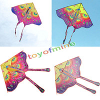 Wholesale Chinese Flying Toys - Wholesale- 90cm Beautiful Colorful Traditional Chinese Butterfly Kite Without String Outdoor Toy Sport Fun Flying Activity