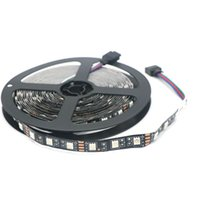 Wholesale Black Ribbon Roll - 5M Roll Black PCB Board Non-Waterproof Led Strip Light 5050 SMD IP20 12V Flexible Light String Ribbon RGB 60Leds M