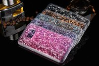 Wholesale Skin Galaxy Ace Plus - Gold Foil Glitter Bling Platinum Soft TPU Case Silicone Clear For Samsung Galaxy G530 J1 ACE S7 EDGE Iphone 6S 6 Plus 4.7 5.5 5 5S Skin Back