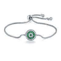 bracelets swarovski pour femme achat en gros de-Vente 4Color Mode bijoux en argent 925 cristal de charme coeur bracelet cristaux de Swarovski pour les femmes Pandora bijoux de mariage