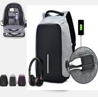 Wholesale Cell Phones Anti Theft - 7 Colors Anti-theft Bags With USB Charging Port Unisex School Bags Notebook Laptop Backpack Anti-theft Laptop Shoulder Bags CCA7249 50pcs