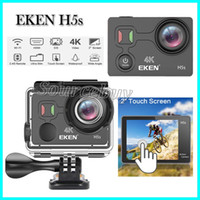 Original EKEN H5s Sports Camera Wifi 4k 2 '' Touch Screen EIS 170 Wide-Angle Lens 30M impermeável remoto câmera de ação HDMI Mini DVR