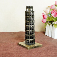 Wholesale Italy Decor - Italy Leaning Tower of Pisa arts and crafts metal Crafts Vintage Decor Metal Craft Retro Figurines & Miniatures Home Decoration