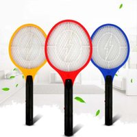 Wholesale Control Bugs - 3 Layers Net Dry Cell Hand Racket Electric Swatter Home Garden Pest Control Insect Bug Bat Wasp Zapper Fly Mosquito Killer