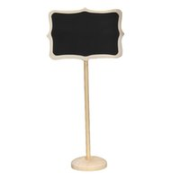 Wholesale Mini Chalkboard Shapes - Wholesale-10pcs Mini Blackboard Rectangle Shape Chalkboard Wordpad Message Note Board Holder Clip Notice Number Tag Board Wedding Decor