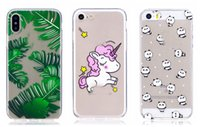 Wholesale Chinese Light Love - Flamingo Unicorn Soft TPU Case for Iphone 8 8G 7 Plus 6 6S Watermelon Cactus Panda Cute Cartoon Love Heart Lovely Silicone Cartoon Cover