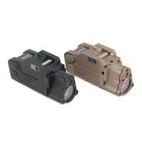 cnc освещение оптовых-Тактический CNC делая SBAL-PL белый свет LED пистолет свет с красным лазерным фонариком черный / темная земля