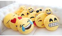 Wholesale Baby Sleep Back - Emoji pillows 40cm Diameter styles baby pillows Cushion Cute Lovely Emoji Smiley Pillows Cartoon Cushion Pillows Stuffed