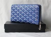 Wholesale X Men Wallet - GO GY Top Quality Women long Wallets Designer real Leather with zipper size: 19.5cm x 10cm x 2cm