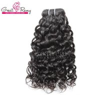 Wholesale Retail Virgin Hair - Retail 1pc 7A Human Hair Extensions Brazilian Remy Virgin Hair Weaves Water Wave Big Curly Hair Extension Wefts Dyeable Natural Black