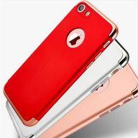 золото iphone s оптовых-Для iPhone7 Case роскошные золотые ультра тонкий гальваническим металл полный Eletroplate Case Cover для iPhone 7 6 6 S Plus iPhone7