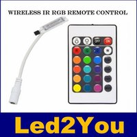 Mini DC12V 24Key RGB Controlador IR controle remoto com Mini Receptor Para 3528/5050 RGB Faixa de LED Light / LED controlador Tape