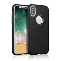 Wholesale Iphone Silicone Case Metal Button - For iPhoneX Silicone Case Cover Oil Spout Soft TPU Metal Button Protective Back Cover