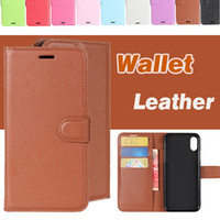 Litchi Pattern Leather Case Flip Wallet Pouch com cartão Pocket Phone Holder Case Cover para iPhone X 8 7 Plus 6 6S Samsung S8 S7 Edge Note 8