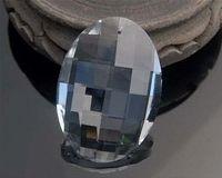 Wholesale Prism Crystal Suncatcher - 6pcs  lot 76mm Egg-shaped Chandelier Crystal Parts Hanging Crystal Drop Prism Lamp Part Suncatcher crystal auto parts