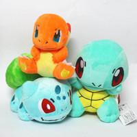 pokemon charmander achat en gros de-6 pouces Poke Figures poupées en peluche jouets 15cm 3 enfants de style Pikachu Charmander Bulbizarre Jeni tortue Poke boule en peluche Toy Dolls