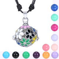 Wholesale Wholesale Piano Crystal - fashion jewelry wholesale hot sale piano music angel ball bola flower diamond rhinestone cage long women pregnant pendant necklace