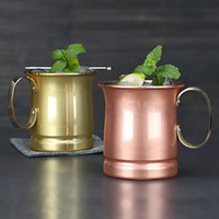 Wholesale carries lenses - Moscow Mule Mug Stainless Steel Beer Cup Kitchen Dining Drinkware Easy To Carry Multi Colors 28bx C R