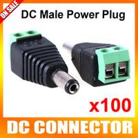 Wholesale Dc Power Jack Cctv - 100pcs lot CCTV DC Male Power Jack Adapter Connector Plug CCTV Accessories