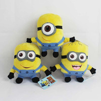 """Wholesale Despicable Minion Dave Plush - Despicable ME Toy Movie Plush Toys 6"""" 17cm Minion Jorge 3D eyes Stewart Dave NWT with tags Free shipping"""