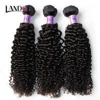 Péruvien Cheveux bouclés Non transformés Péruvien Kinky Cheveux Curly Weave 3Bundles Lot 8A Grade Péruvienne Jerry Curl Extension de cheveux Natural Color