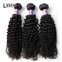 Wholesale jerry curl weave extensions human hair online - Peruvian Curly Hair Unprocessed Peruvian Kinky Curly Human Hair Weave Bundles A Grade Peruvian Jerry Curl Hair Extension Natural Color