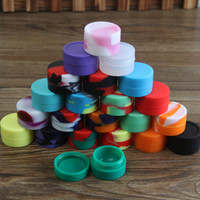 Wholesale Food Grade Silicone - Nonstick wax containers silicone box 5ml silicon container food grade jars dab tool storage jar oil holder for vaporizer vape FDA approved