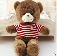 Wholesale 1m Teddy Bear Plush - 2016 New arrive Large 1.6 Meters Sweat Teddy Bear Lovers Big bear Arms Stuffed Animals Toys Plush Doll 1.6CM 1.4CM 1.2CM 1M 80CM Sleepy Bear
