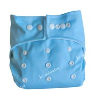Wholesale Christmas Aio Cloth Diaper - New 1 pc Light Blue One Size Baby Infant cloth diaper nappy cover and 1 pc liner insert