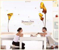 Wholesale Calla Lilies Wall Art - Free Shipping:3D Gold Calla Lily Reusable Transparent Pvc Window Wall Stickers Mural Decal Art Home Decor Size145*185cm 57'*72in