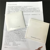 Wholesale Wholesale Sterling Silver Cleaning Cloth - 2 Size 925 Sterling Silver Polishing Cloth European Style for Pandora Charm Bead Dangle Pendant Jewelry Cleaners & Polish