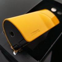Wholesale Product Sense - Hot Fashion High-End Product Design Unique Lubinski Yellow Laser Touch Sensing 4 Torch Jet Flame Cigar Lighter