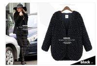 Wholesale Vintage Lamb Coat - 2016 Autumn Winter Newest Female Lambs Wool Coat Shawl Fashion Womens Capes And Ponchoes Ladies Vintage Warm Costs