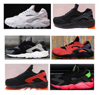 Wholesale Big Women Rubber - (Big promotion) 6 Colors Air Huarache Running Shoes For Men Women,All Black White Triple Red Sneakers Huaraches Ultra Sports Shoes eur 36-45