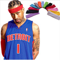Wholesale Professional Tennis Wear - Professional sweatbands sports absorbent cotton Nursing headband tennis grip Football wearing headband for men women towel