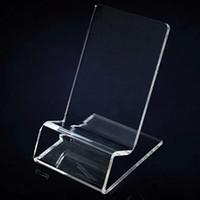 mobiltelefone displayhalter stehen großhandel-Universelle allgemeine klare transparente Acryl Halterung Display-Ständer für iPhone Samsung Handy-Handy gezeigt