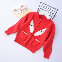 Everweekend Girls Вязаные фоксовые карманы Свитер Кардиган Candy Color Sweet Children Jacket Outwears Lovely Baby Clothing