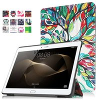 Wholesale Leather Case Galaxy Tab2 - Colorful ipad Pro 9.7 Tri-fold Flip leather case galaxy tab E 8.0 T377 T280N lenovo Tab2 A8 A10-30 HUAWEI M2 cover