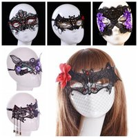 Lace black mesh mask - 6 Designs Fashion Sexy Lace Party Masks Women Masquerade Mask Halloween Xmas Cosplay Dancing Valentine Mesh Half Face Mask CCA6885